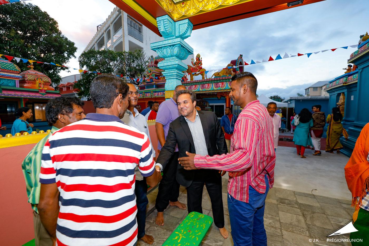 Le Président de région Didier ROBERT en visite au temple du Chaudron