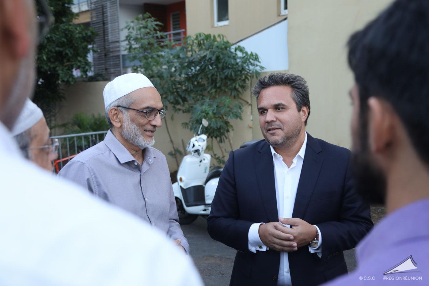Le Président de Région Didier ROBERT a rencontré le Président de la Mosquée Mr Iqbal INGAR