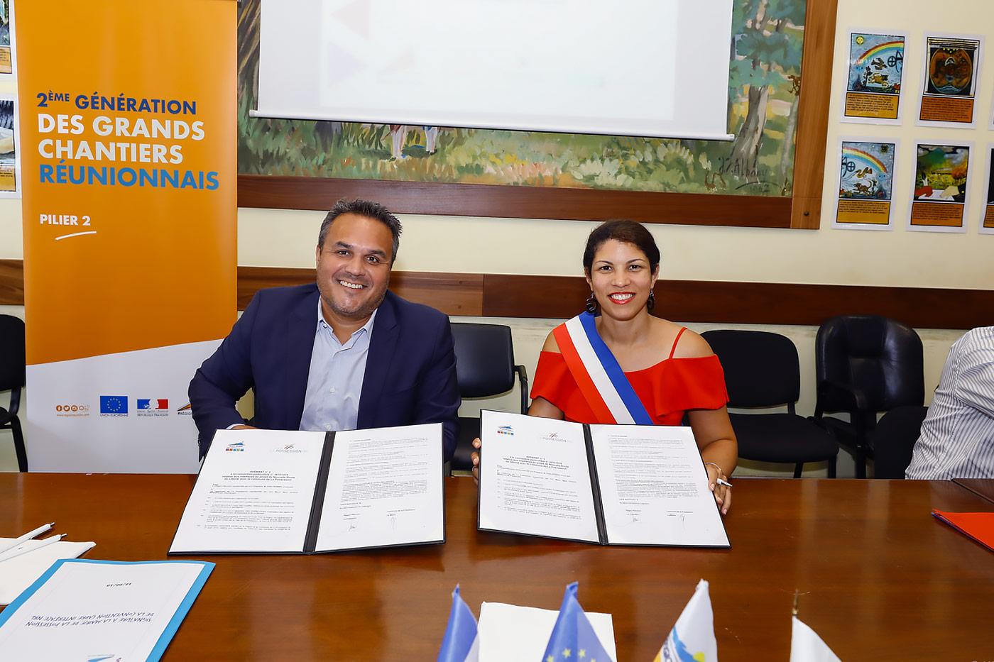 Signature d'une convention d'aménagement avec La Possession (avenant 2)