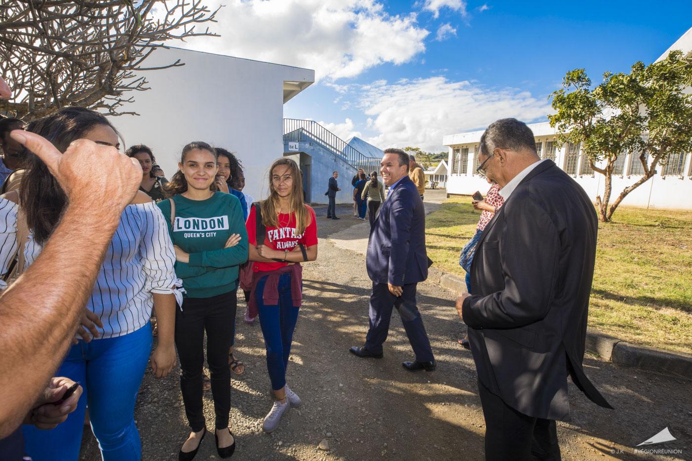 Rentrée scolaire 2018/2019 - Visite du Lycée Isnelle Amelin