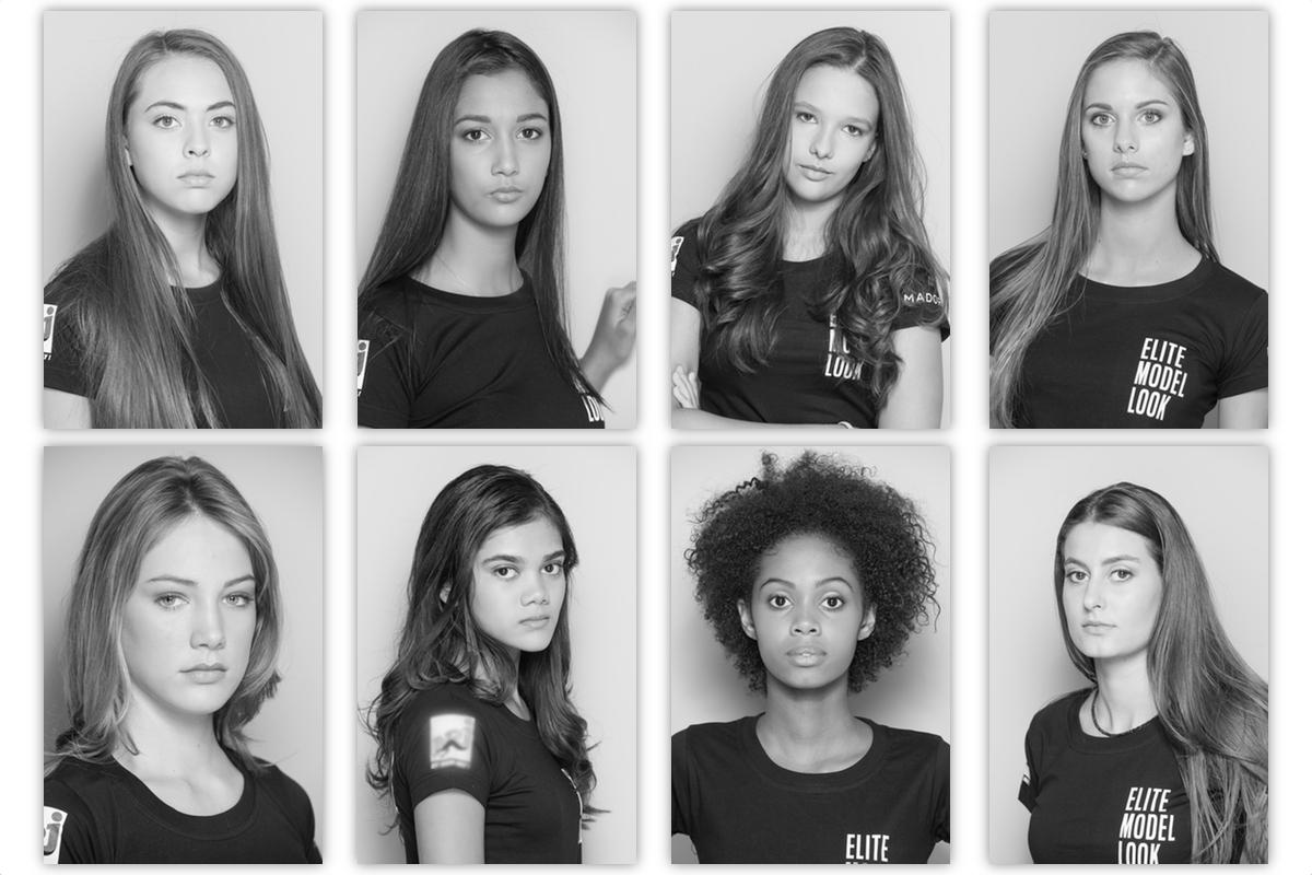 Les 8 finalistes Elite Model Look Reunion Island 2018