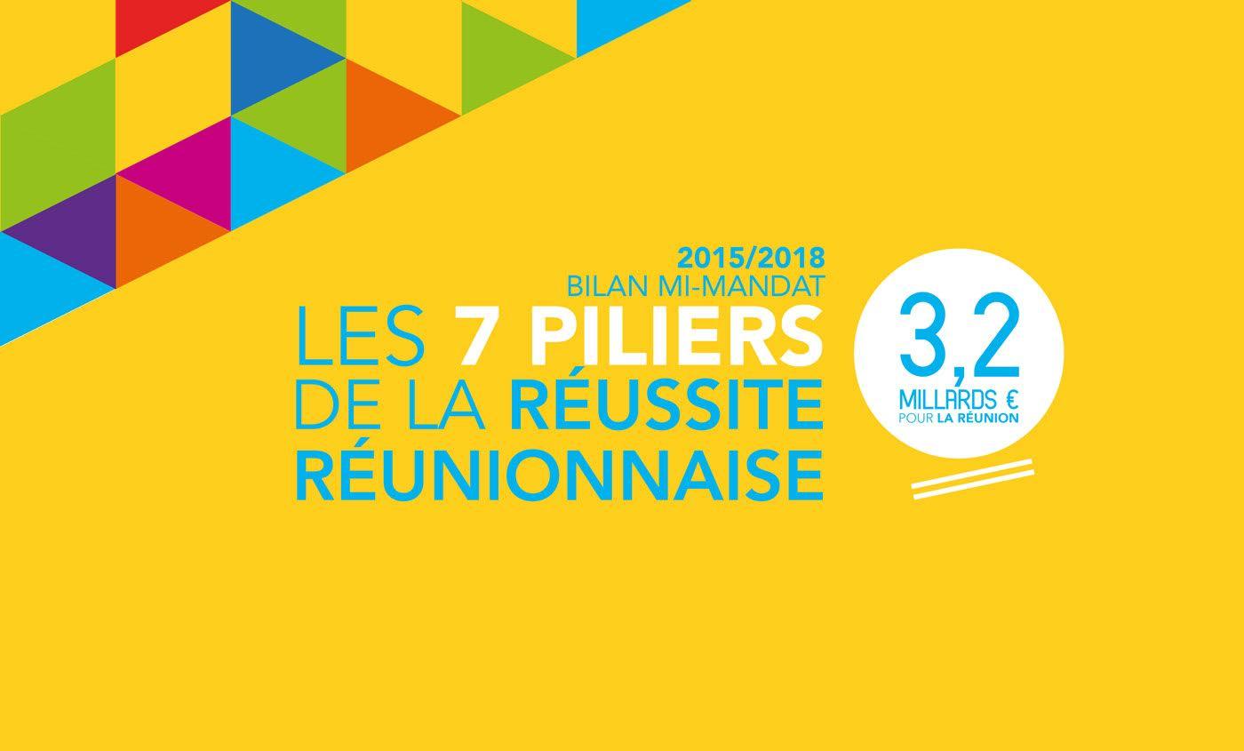 2015/2018 Bilan mi-mandat : Les 7 piliers de la réussite réunionnaise