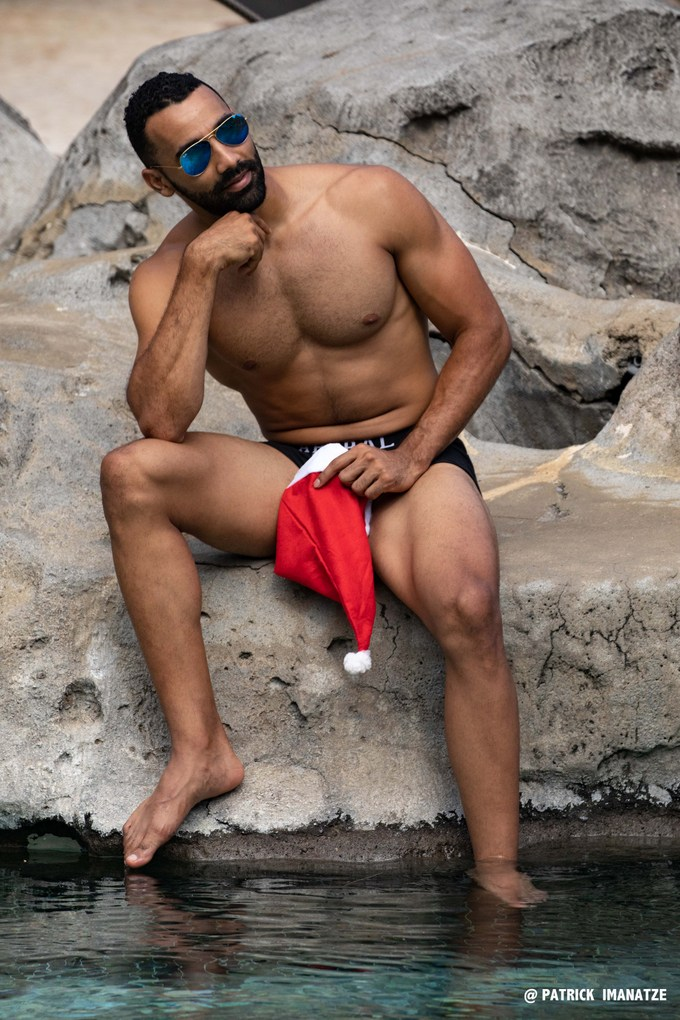 Emmanuel Imanatze, un père Noël très sexy