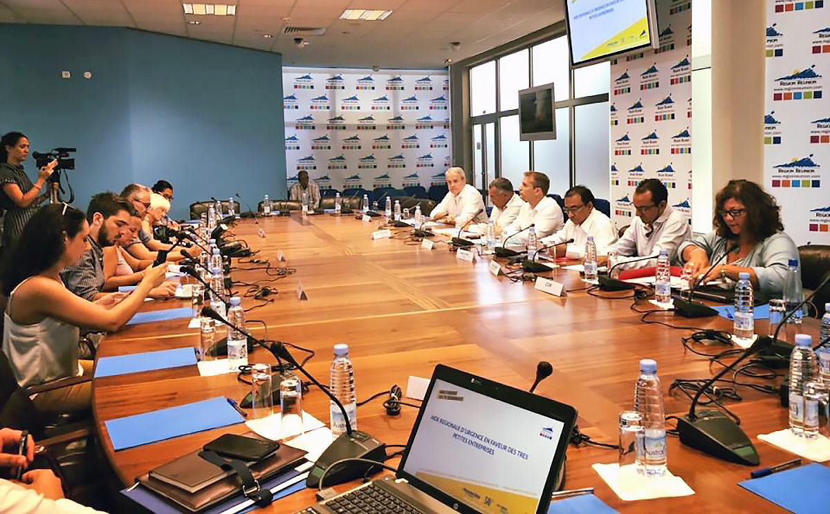 Lancement de l'aide Régionale d'urgence pour les TPE Réunionnaises