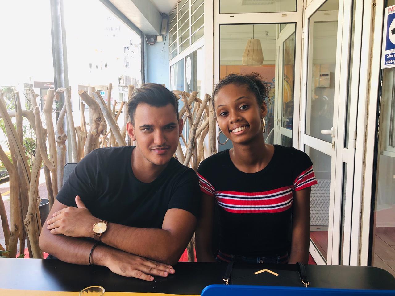 Camille en compagnie de Laurent l'animateur d'NRJ Réunion