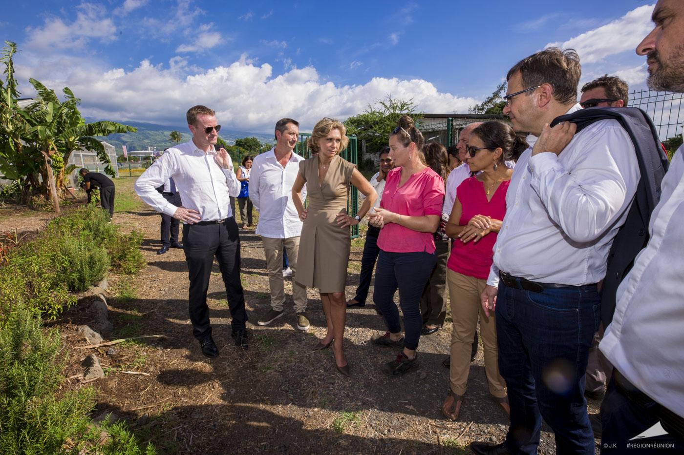 Valérie PECRESSE en visite sur le site AKUO Energy