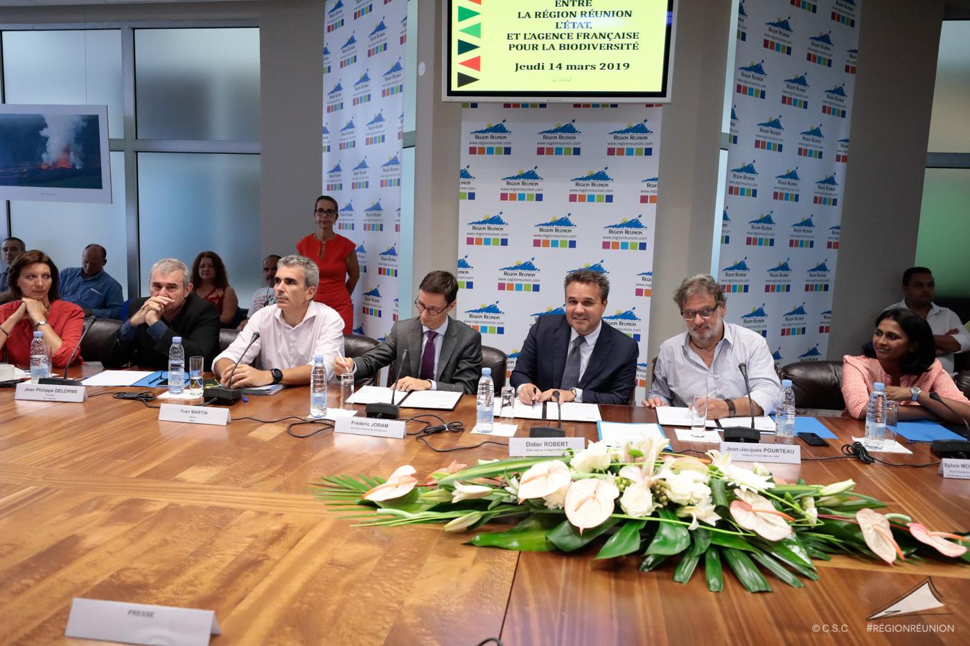 Signature d'une convention entre la Région, l'Etat et l'Agence Française de Biodiversité