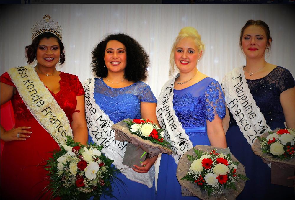 MISS RONDE FRANCE 2019 : CHLOÉ Miss Ronde Réunion 2018  1ERE DAUPHINE : SIHEM Miss Ronde PARIS 2018 2EME DAUPHINE: ANDREA Miss Ronde ALSACE 2018 3ÈME DAUPHINE: AMBRE Miss Ronde BASSE NORMANDIE 2018