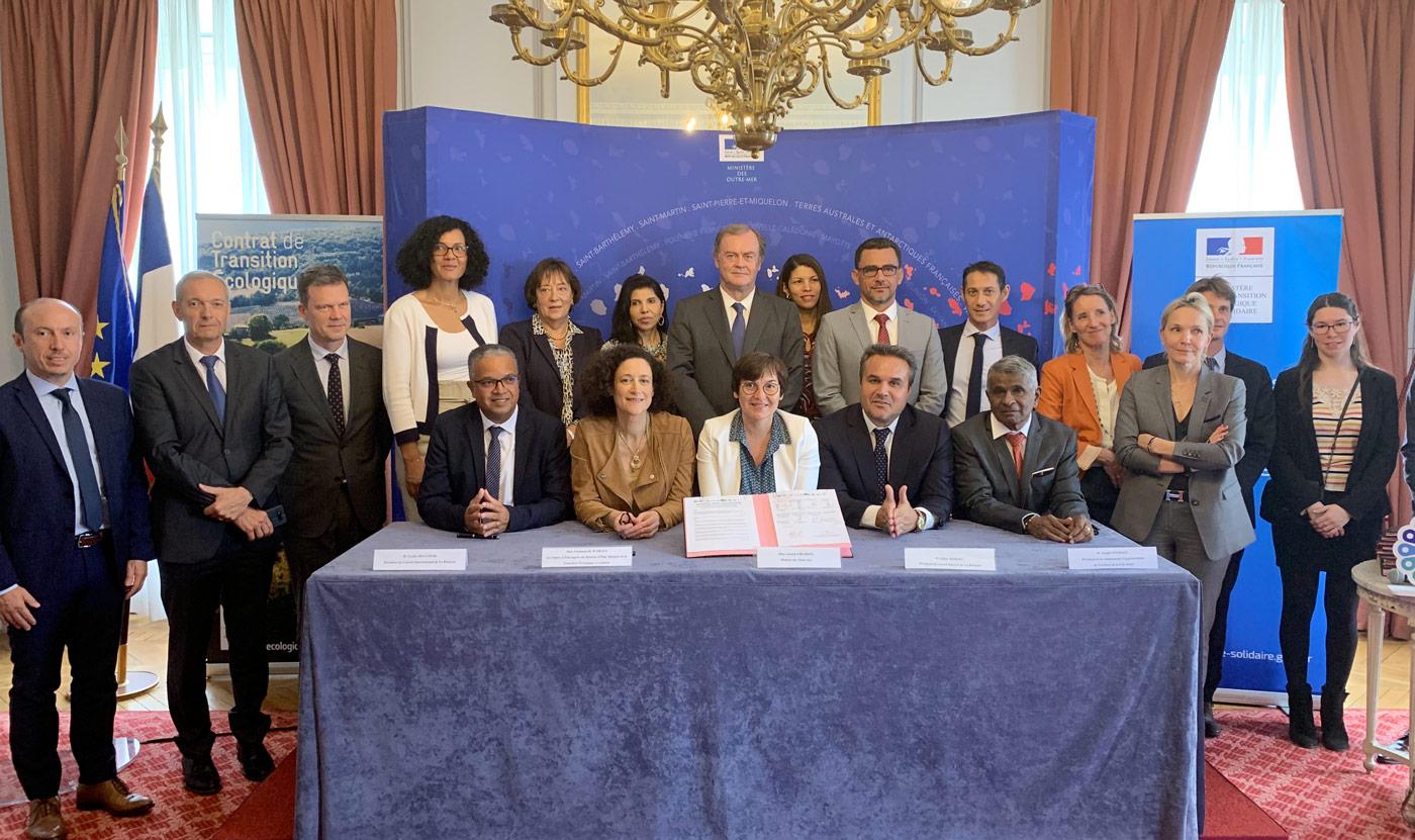 Cambaie Ecocité : signature d'un Contrat de Transition Ecologique (CTE) entre la Région Réunion, l'Etat, le TCO, et le Département de La Réunion