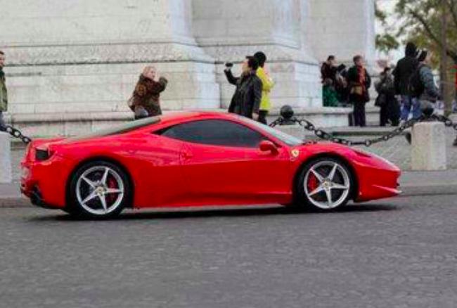 La Ferrari de Kykian M'Bappé (photo réseaux sociaux)