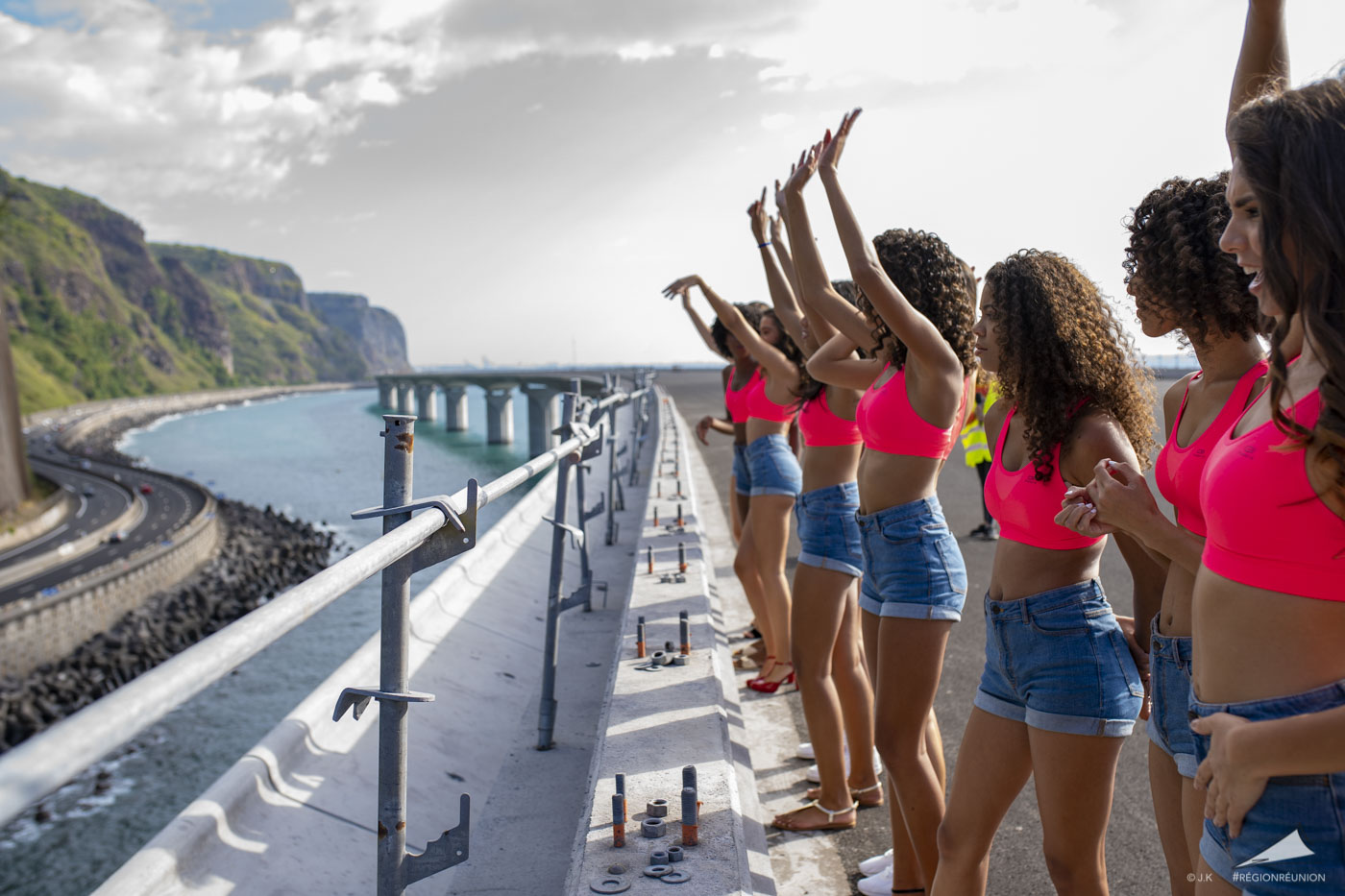 Les candidates de Miss Réunion sur la NRL
