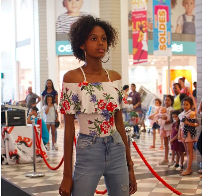 Camille lors du casting Elite Model Look Reunion Island 2018