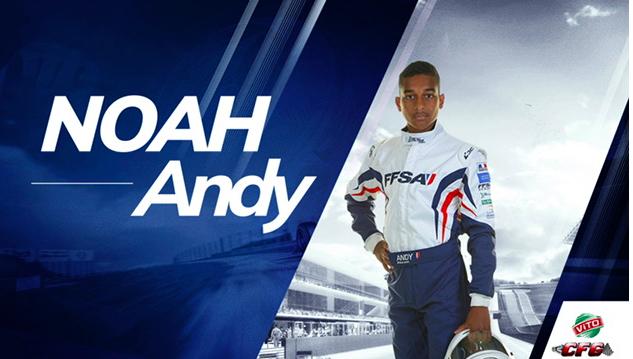 Noah Andy, le jeune Réunionnais qui rêve de devenir pilote de F1