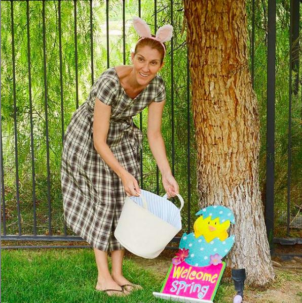 Céline Dion fête Pâques sobrement en confinement