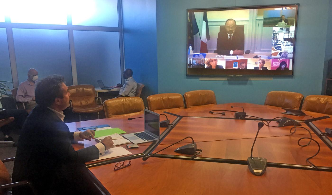 Visio-conférence entre le Premier Ministre et le Président de Région