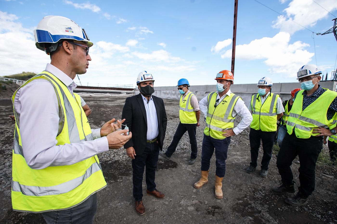 Le Président Didier ROBERT à la rencontre des ouvriers pour la reprise des chantiers