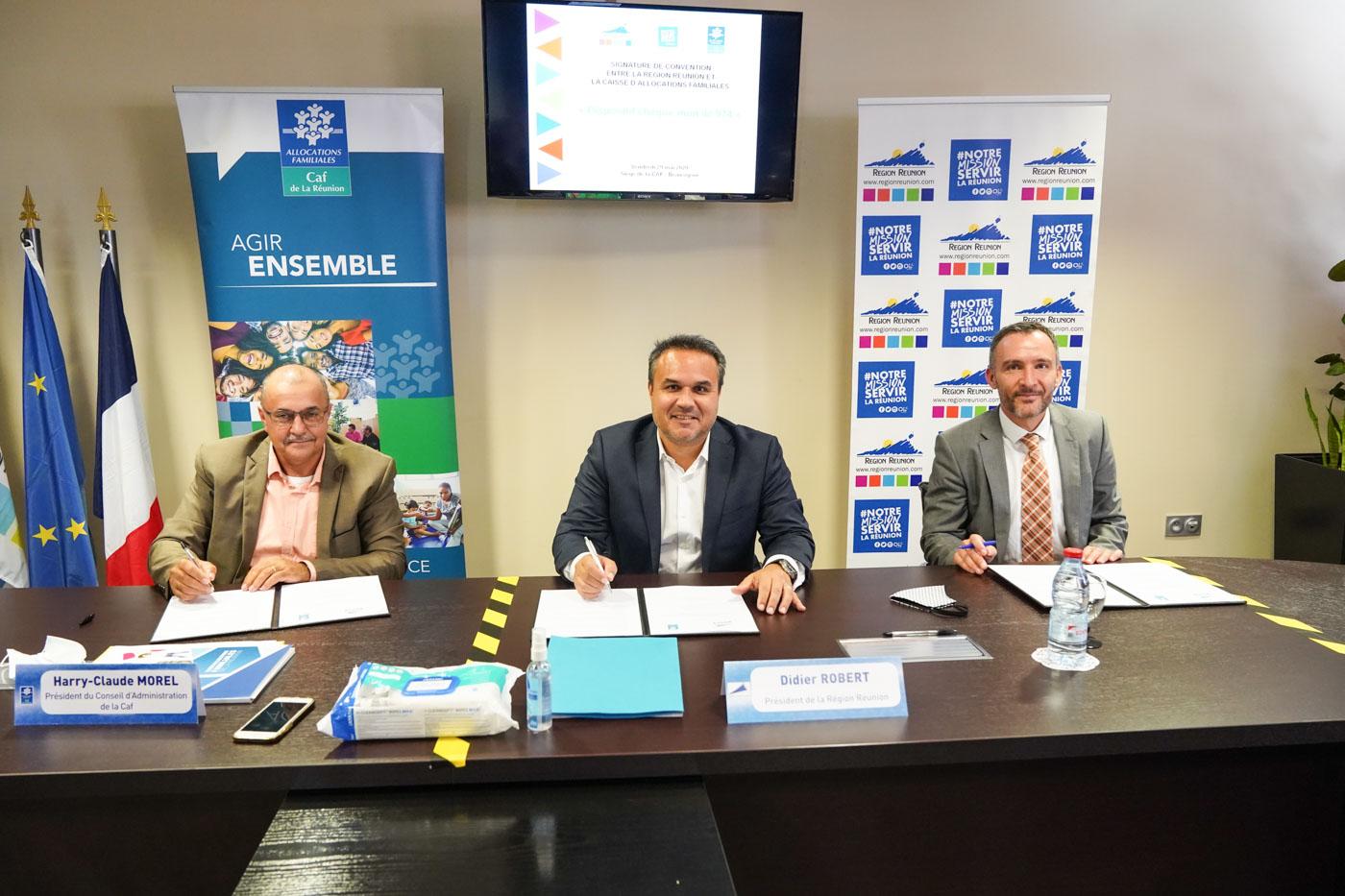 Partenariat Région-CAF Pour la mise en oeuvre du Chèque Tourisme « Mon Île 974 »