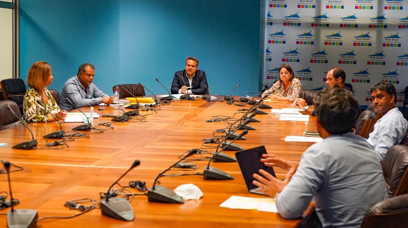 Didier Robert fait un point de situation avec le Comité Régional des Pêches Maritimes