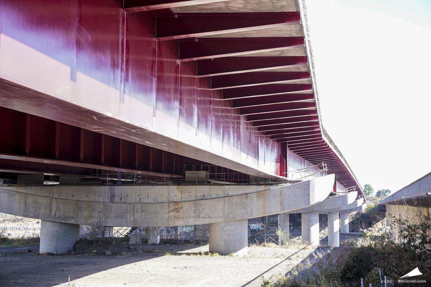 Visite du Nouveau Pont de la Rivière des Galets