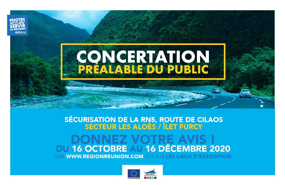 Sécurisation de la RN5, route de Cilaos : Concertation préalable du public