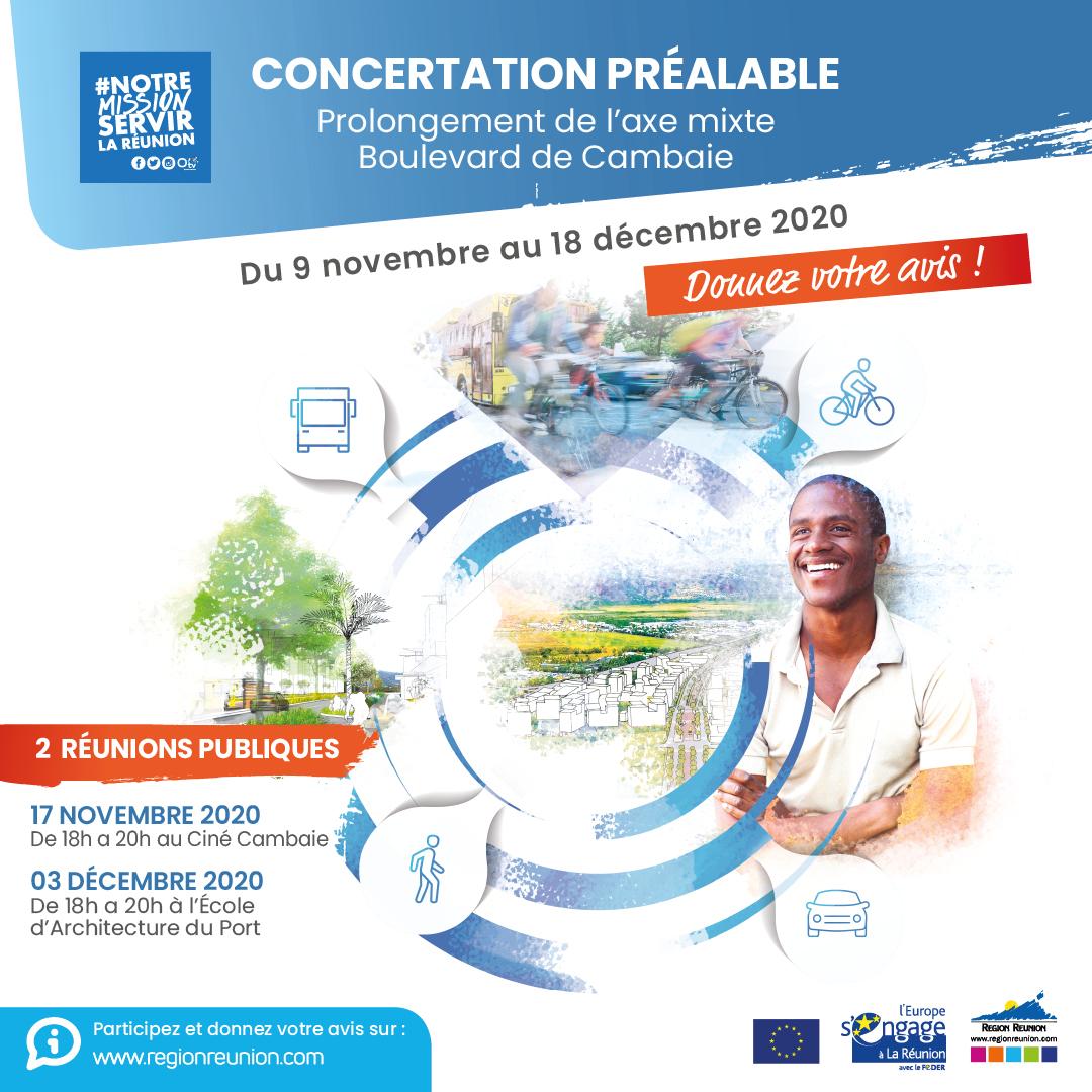 Concertation : Prolongement de l'Axe Mixte - Boulevard de Cambaie