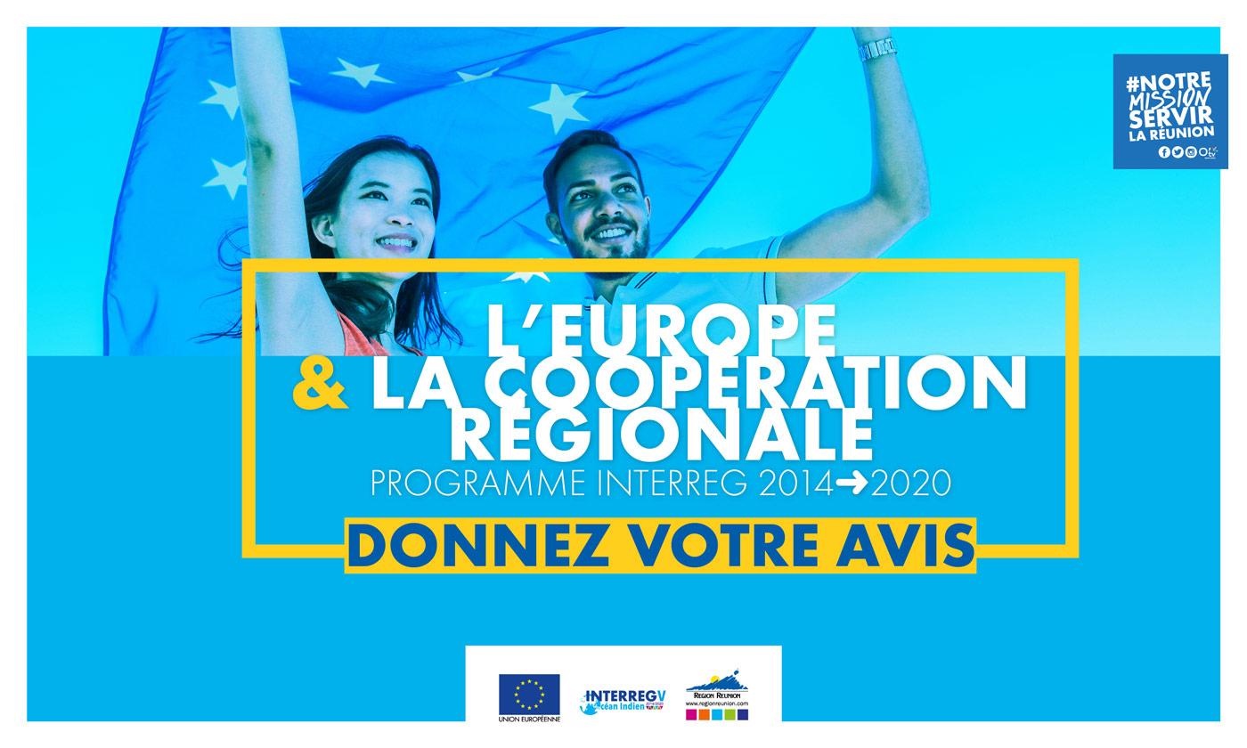 L'Europe et la Coopération régionale : Donnez votre avis !