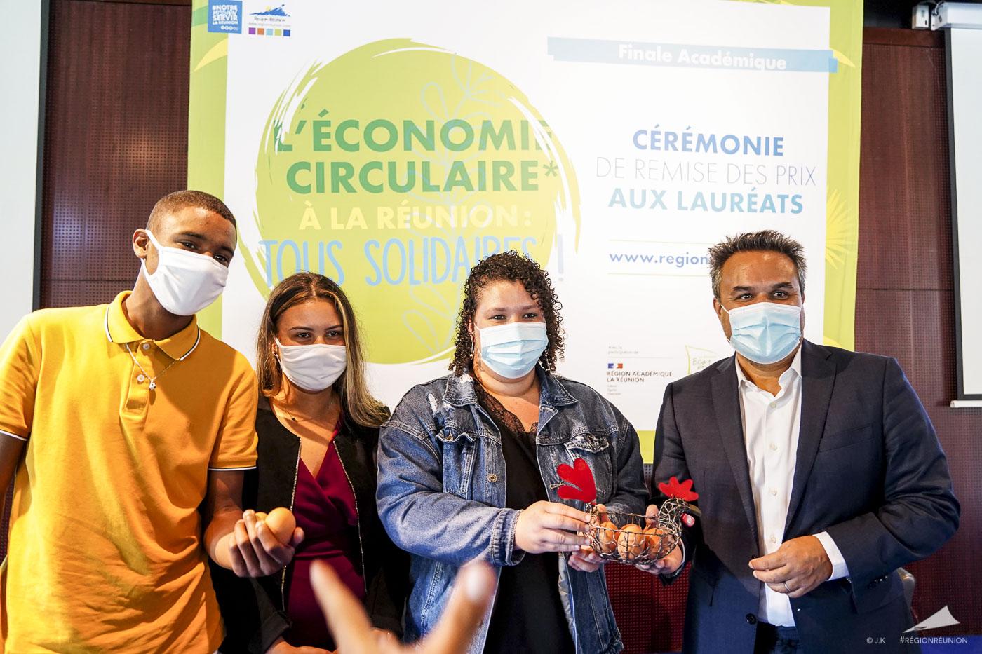 Finale du concours Académique l'Économie Circulaire à la Réunion : Tous solidaires !
