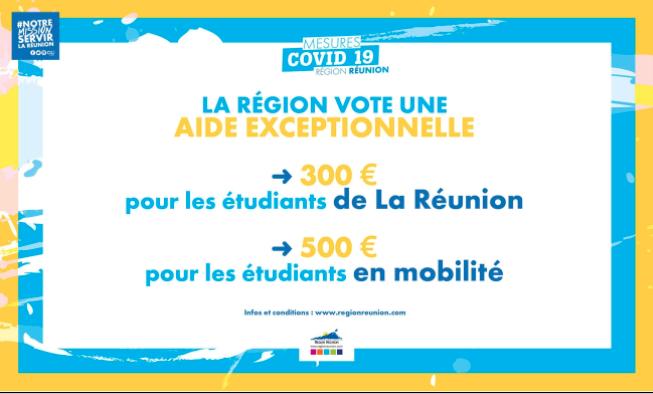 Covid-19 : Une aide de 300 et 500€ pour les étudiants Réunionnais