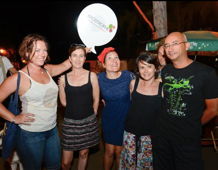 Les journalistes: Laurene Mazier (Femme Mag),  Sophie Person, Julie Casterman, Fanny Peroz, et Emmanuel Dinh (R1ère)