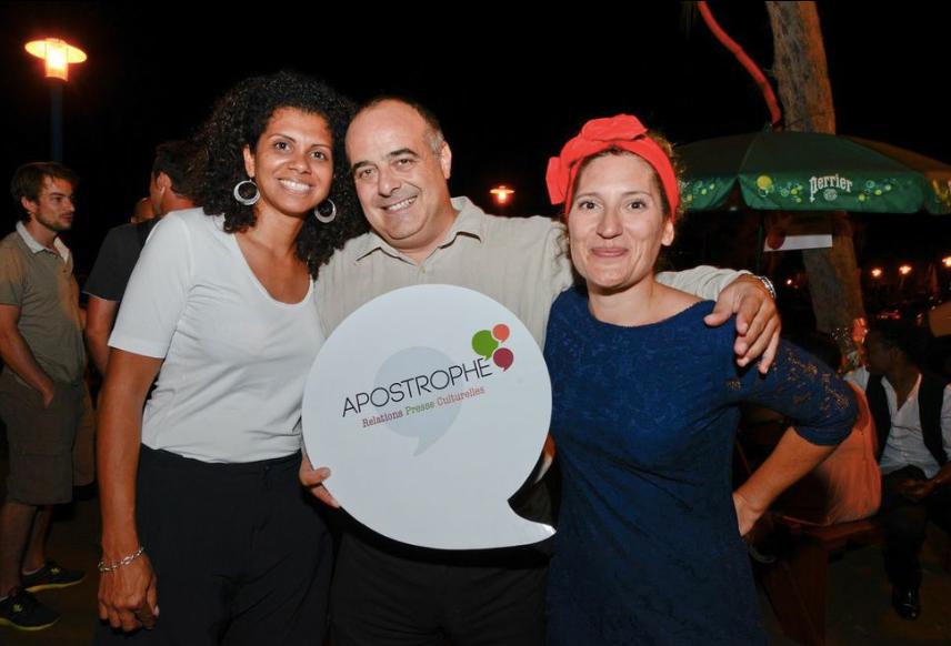 Karine et Jean-Michel Jobart de l'association Sidaventure avec Julie Casterman