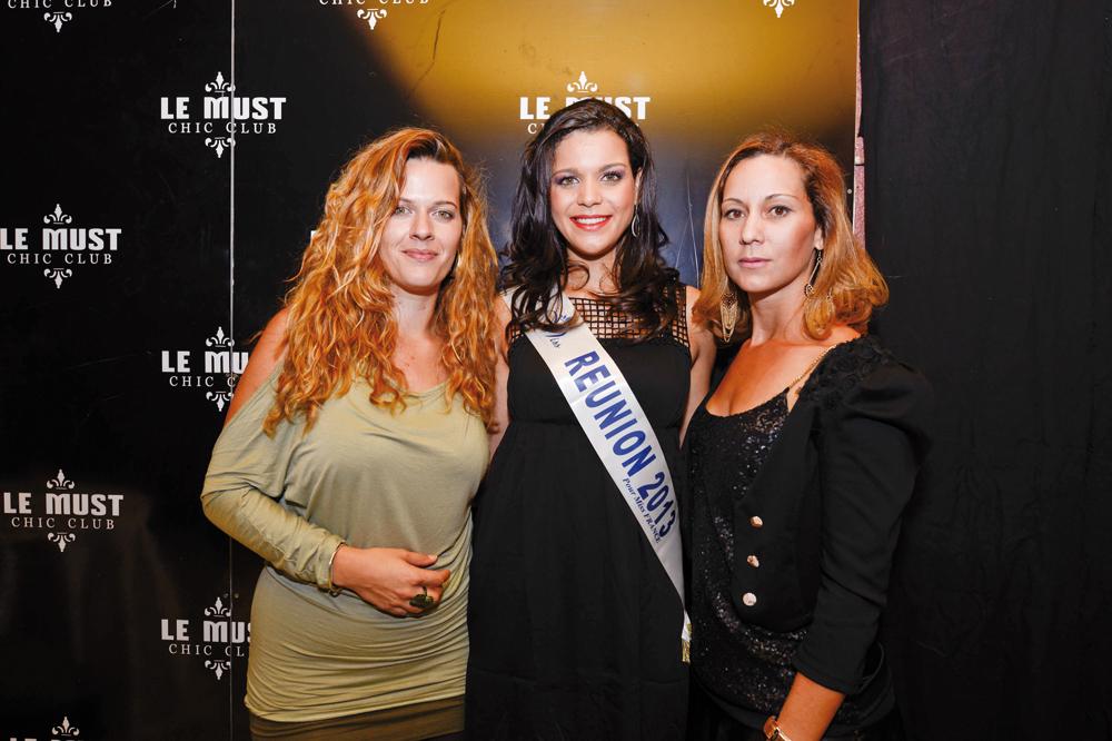 Sarah Hugon, directrice du Must, Vanille M'Doihoma, Miss Réunion 2013, et Frédérique, directrice de Frédérique Locations
