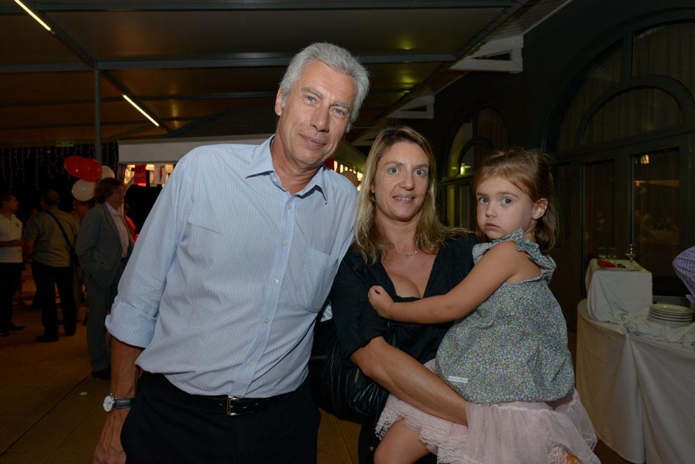 Bernard Veber, directeur général de Groupama,  son épouse Johanne-Laure, et leur fille Eloïse