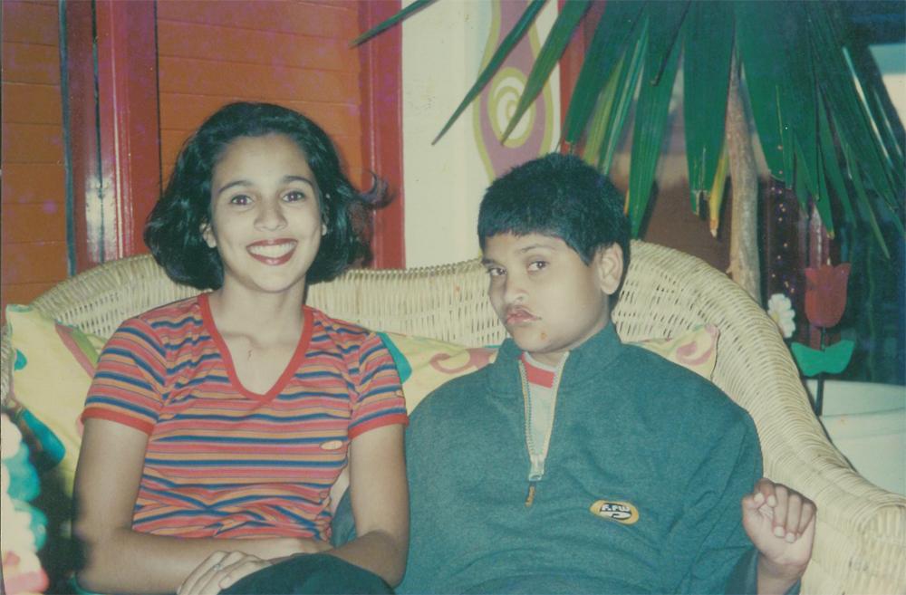 Mes deux enfants Farahnaz  et Daoud il y a une quinzaine d'années