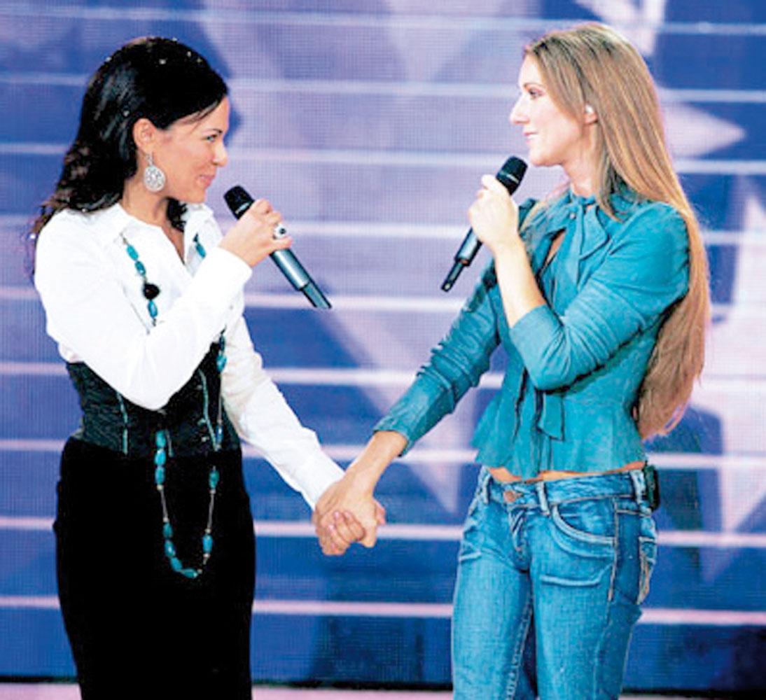 Avec Céline Dion, une très belle rencontre avec une star d'une grande humanité