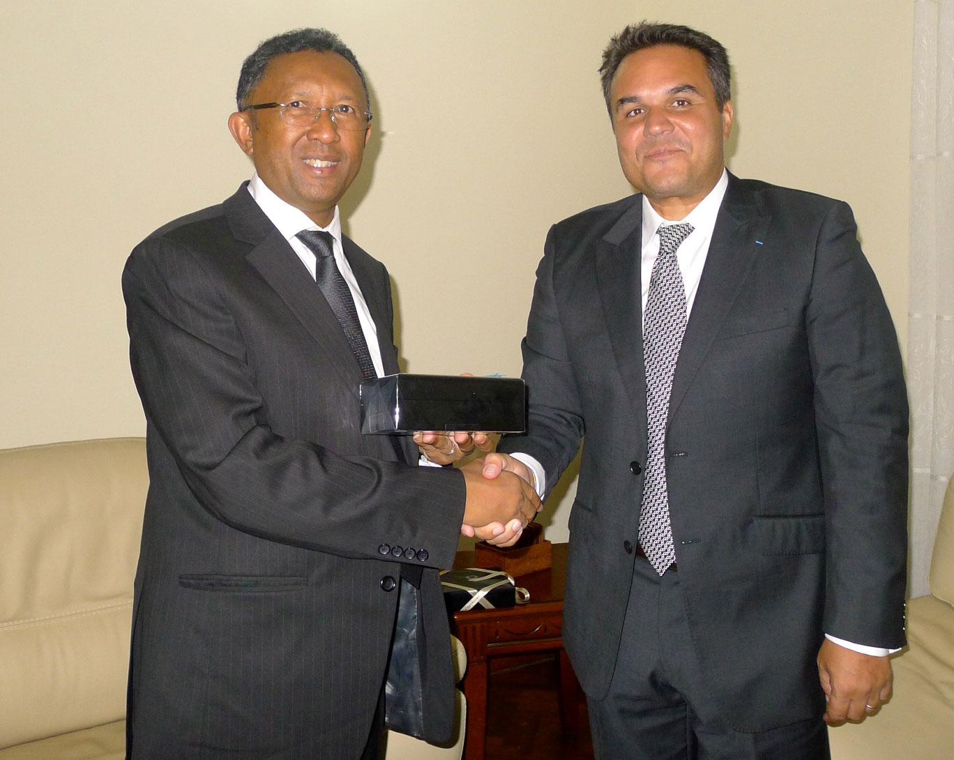 Rencontre entre le président Hery Rajaonarimampianina et le président Didier Robert