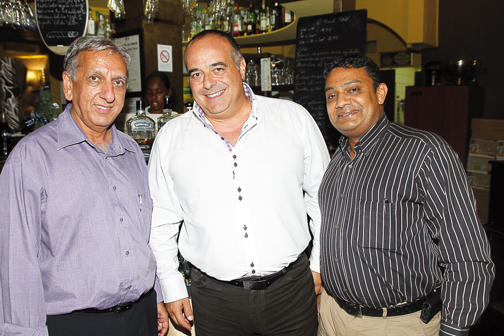 Aziz Patel, Jean-Michel Jobart et Noor-Olivier Bassand