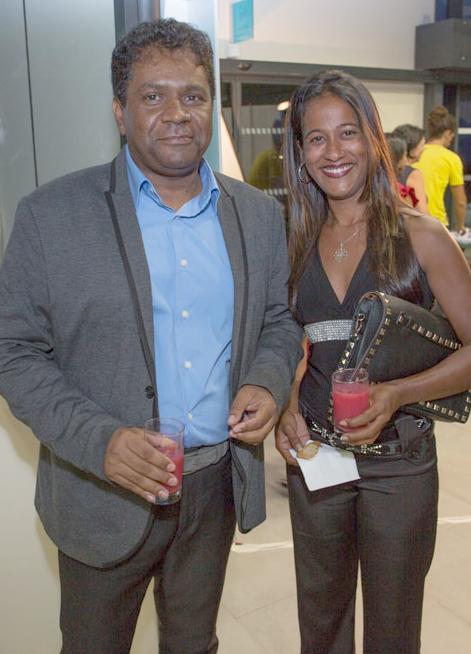 Jean-Hugues Ratenon  et Marinette Atchicanon de l'ARCP
