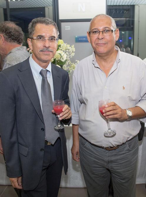 Jean-Marie Degard, et René Vlody, tous deux administrateurs au conseil d'administration de la CAF de La Réunion