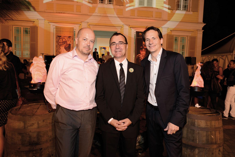 Laurent Metzger de Finarea,  Frédéric Auché, PDG de Mascarin, et Olivier Thiéblin, président du Cercle des Tangliers
