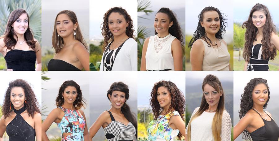 Miss Ville du Tampon 2014. Les 12 candidates