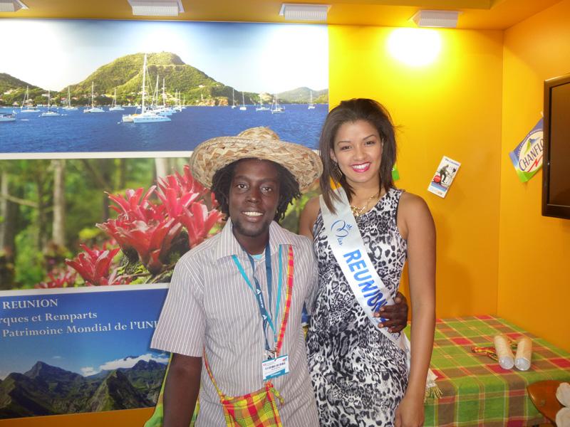 Les Antilles et La Réunion, réunies sur le même stand