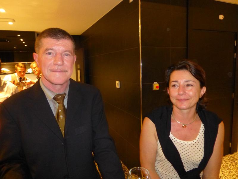 Marcelino Burel, président de l'Ordre des Experts Comptables de La Réunion et Sophie Desmodt, secrétaire générale de l'Ordre