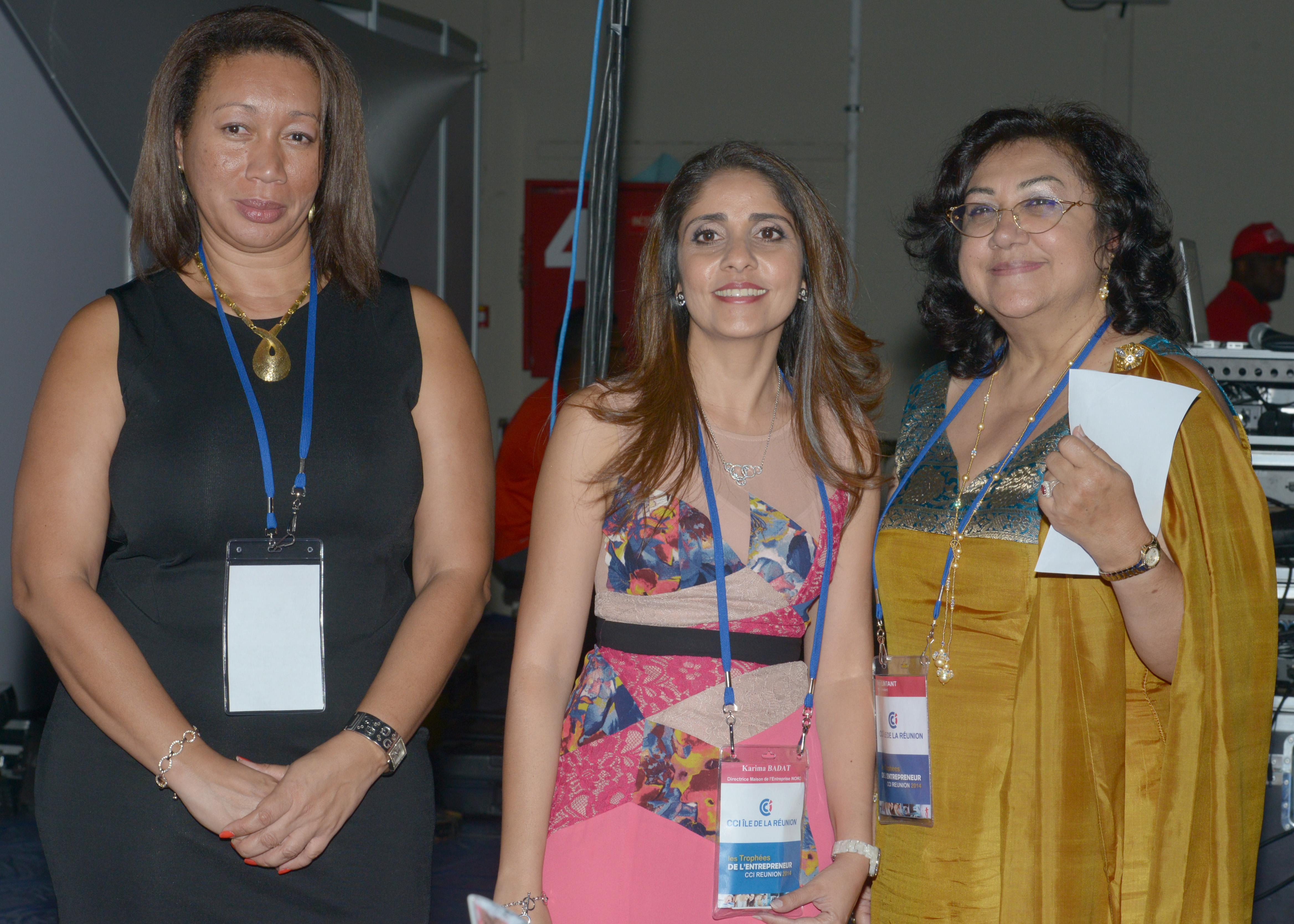 Sophie Jeannette, directrice Pôle Entreprises, Karima Badat, directrice Maison Entreprise Nord et Nadira Lintant, chargée Relations externes Cabinet Présidence