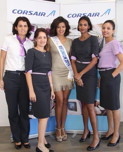 Ingreed Mercredi avec l'équipe Corsair Sud: Béatrice, Patricia, Carole, la chef d'agence, et Sabrina