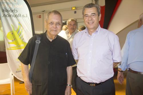 Paul Vergès, sénateur, et Dominique Rivière, avocat
