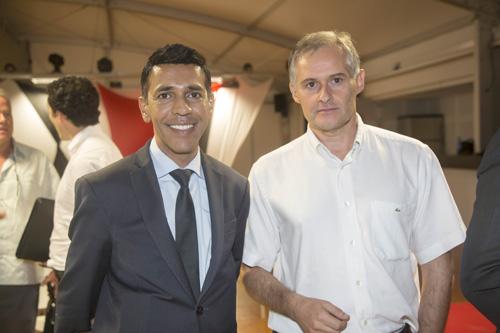 Younouss Omarjee, et Philippe Labro, administrateur de l'ADIR et président directeur général de Tereos Océan Indien