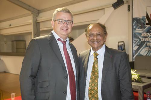Frédéric Cormerois, directeur régional Bred Banque Populaire, et Abdéali Goulamaly
