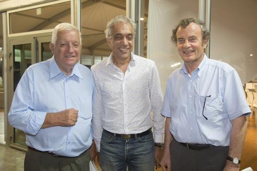Maurice Cerisola, Patrice Galbois, gérant de Corex, et Guy Dupont