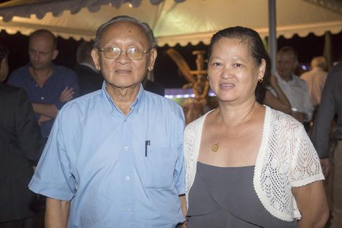 Michel Chane-Poo-Chun, mémorialiste, et son épouse Lilianne