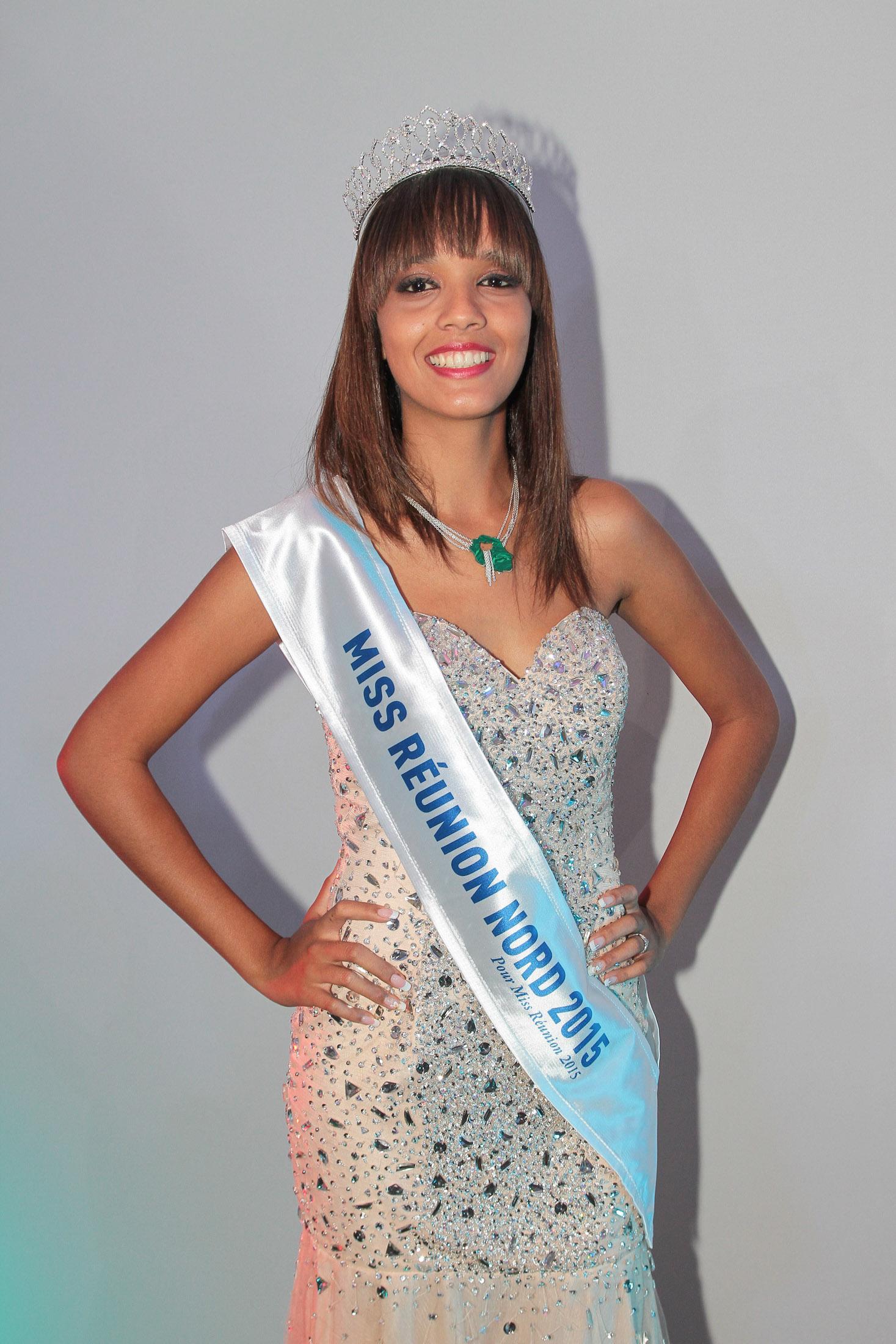 Vanessa s'est qualifiée pour Miss Réunion 2015 hier soir